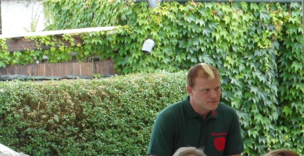 """Herr Göhrs beim Vortrag im Kleingartenverein """"Sonneneck"""" e.V."""